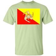 Sicilian Flag T-Shirt – Flag of Sicily Shirt