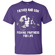 father and son Fishing Partners For Life T-Shirt