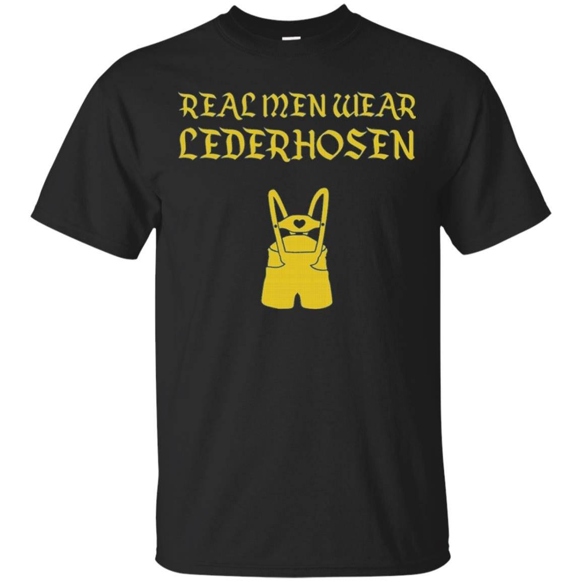 Men's Real Men Wear Lederhosen – Funny Oktoberfest Party Shirt