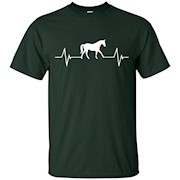 Love Horse Heartbeat T-Shirt Horse Riding Stable