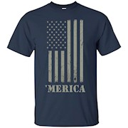 Vintage Subdued American Flag Merica T-Shirt