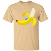 Banana Emoji T-Shirt Peel Sticker Grocery Fruit Slip