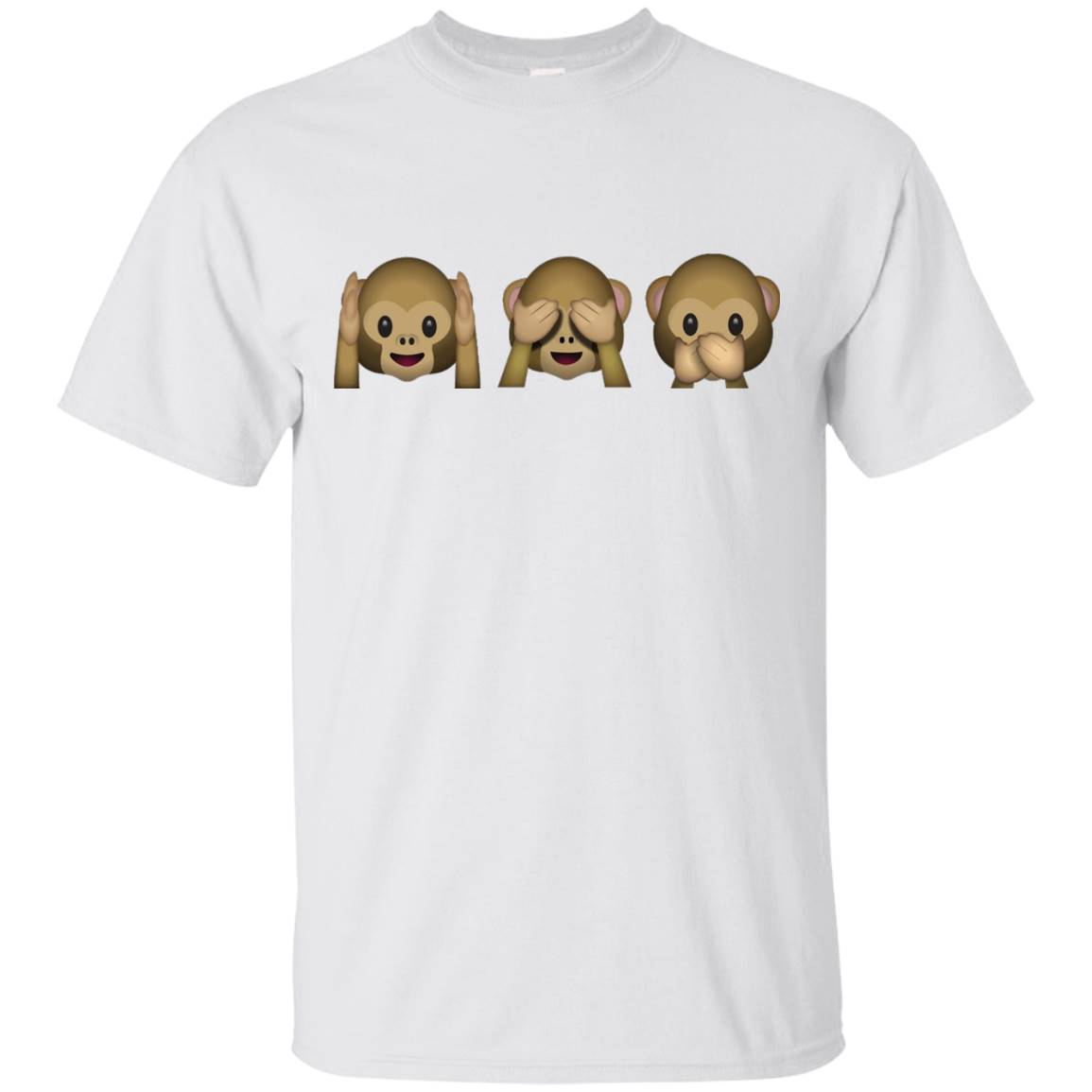 Monkey Emoji Hear Speak See No Evil Three Wise T Shirt – T-Shirt