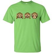 Monkey Emoji Hear Speak See No Evil Three Wise T Shirt – T-Shirt