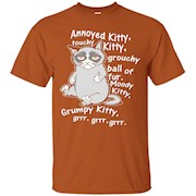 Annoyed Kitty, Touchy Kitty T-shirt – T-Shirt