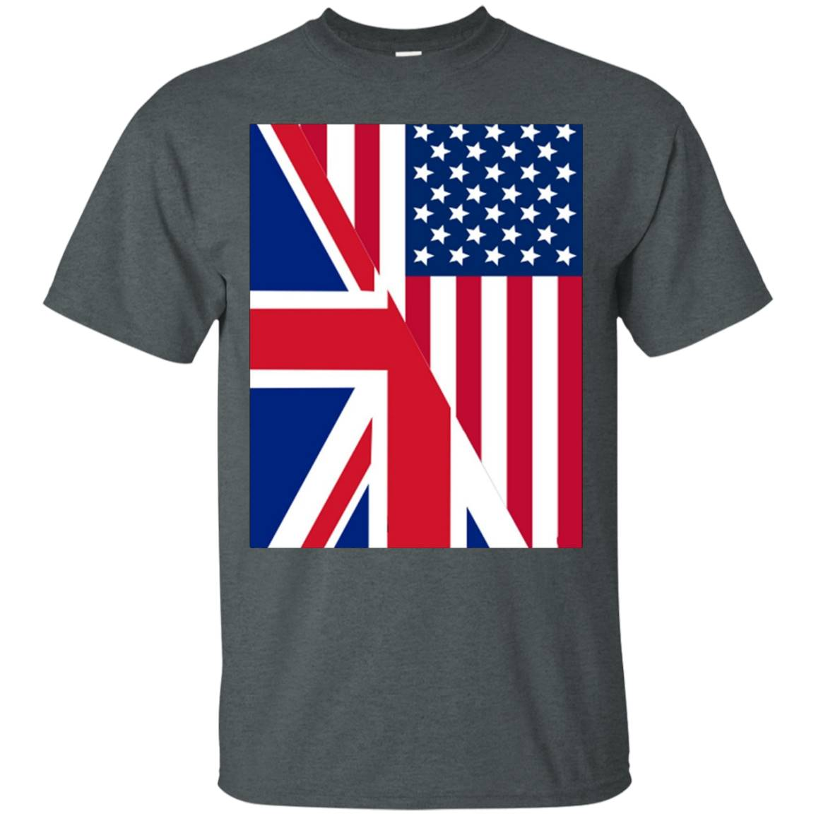 American and Union Jack Flag t-shirt – T-Shirt