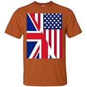 American and Union Jack Flag t-shirt – T-Shirt