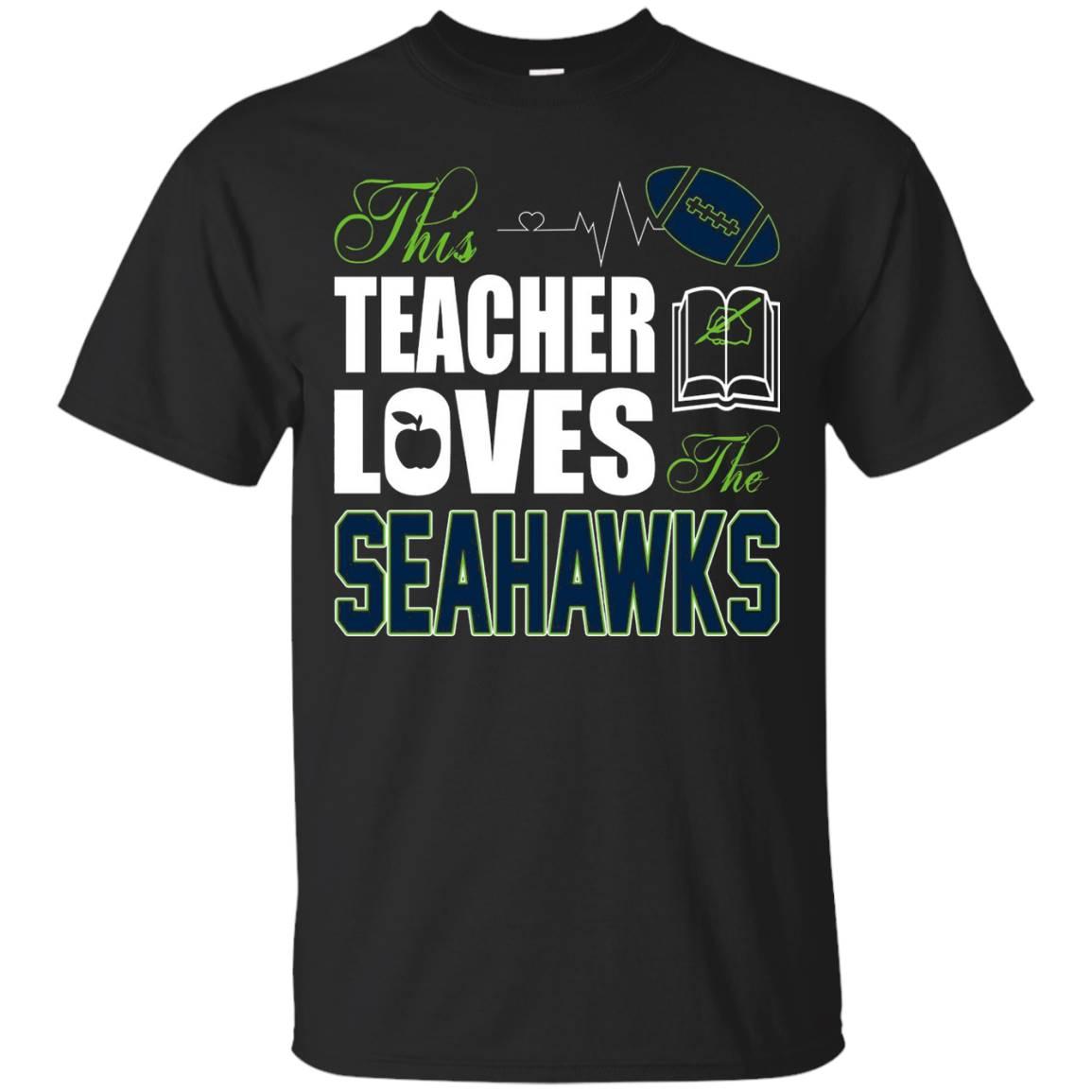 Apparel Sports Gear Football Tshirt Teacher Loves Seahawks – T-Shirt