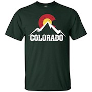 Colorado Flag T-Shirt Vintage Colorado Mountain Shirt.