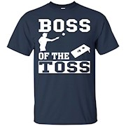 Boss Of The Toss Cornhole Game Tailgating Funny T-Shirt