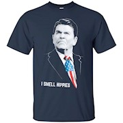I Smell Hippies Funny Ronald Reagan Conservative Merica US – T-Shirt