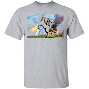 Cat Riding Fire Breathing Unicorn T-Shirt