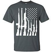 American Flag With Machine Guns T-shirt – T-Shirt