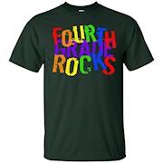 Fourth Grade Rocks Teacher Student Fun Novelty T Shirt – T-Shirt