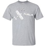 Airplane Blueprint Mechanical Drawing Biplane Diagram Tshirt – T-Shirt