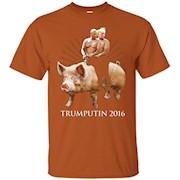 Donald Trump Vladimir Putin 2016 Riding A Pig Funny T-Shirt