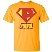 Men's Papa Superhero T Shirt – Super Hero Mens Gift Tee – T-Shirt