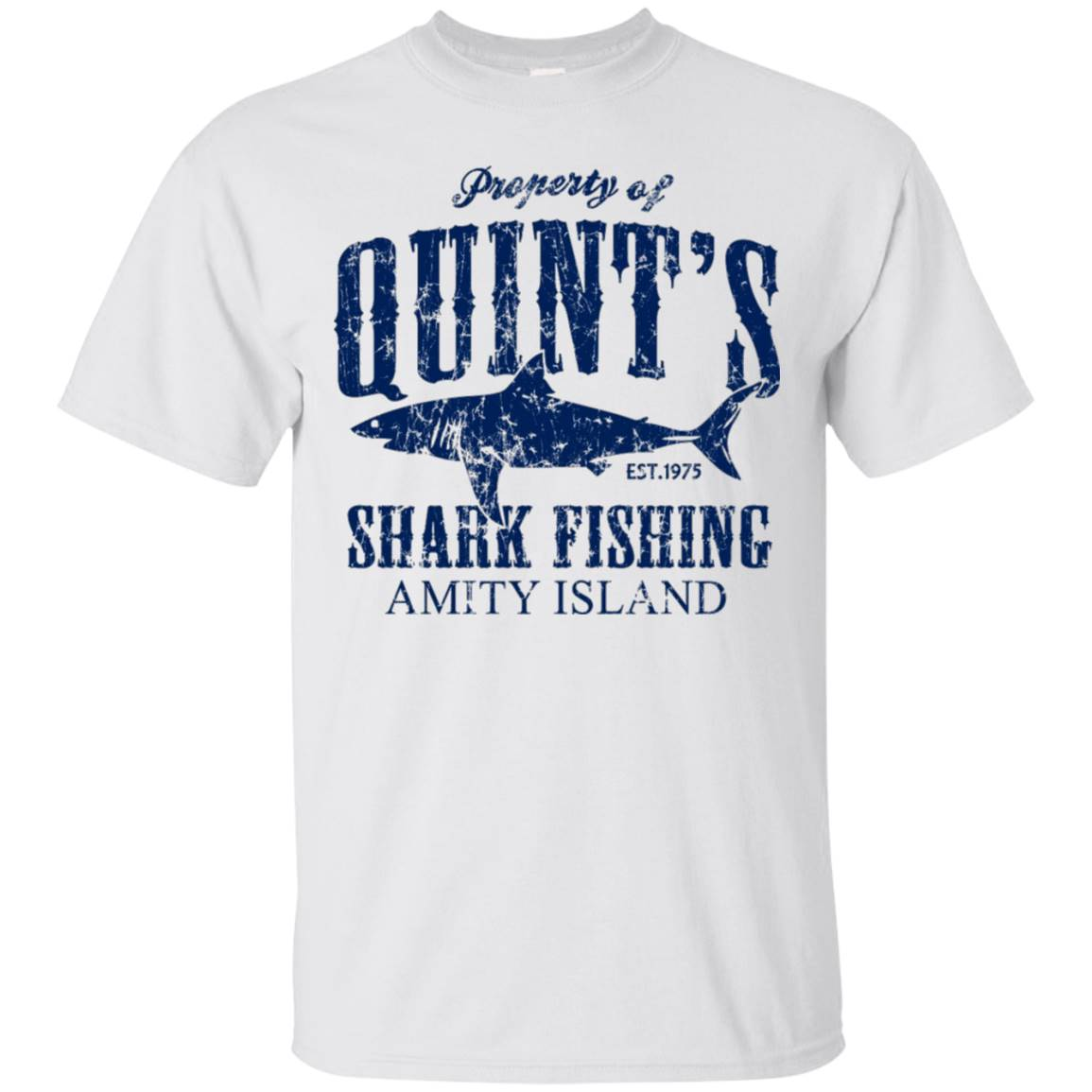 Property Quint's Shark Fishing Amity Island T Shirt – T-Shirt