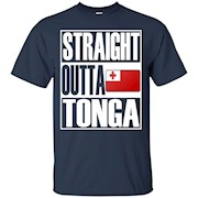 Straight Outta Tonga Quality Flag T-Shirt