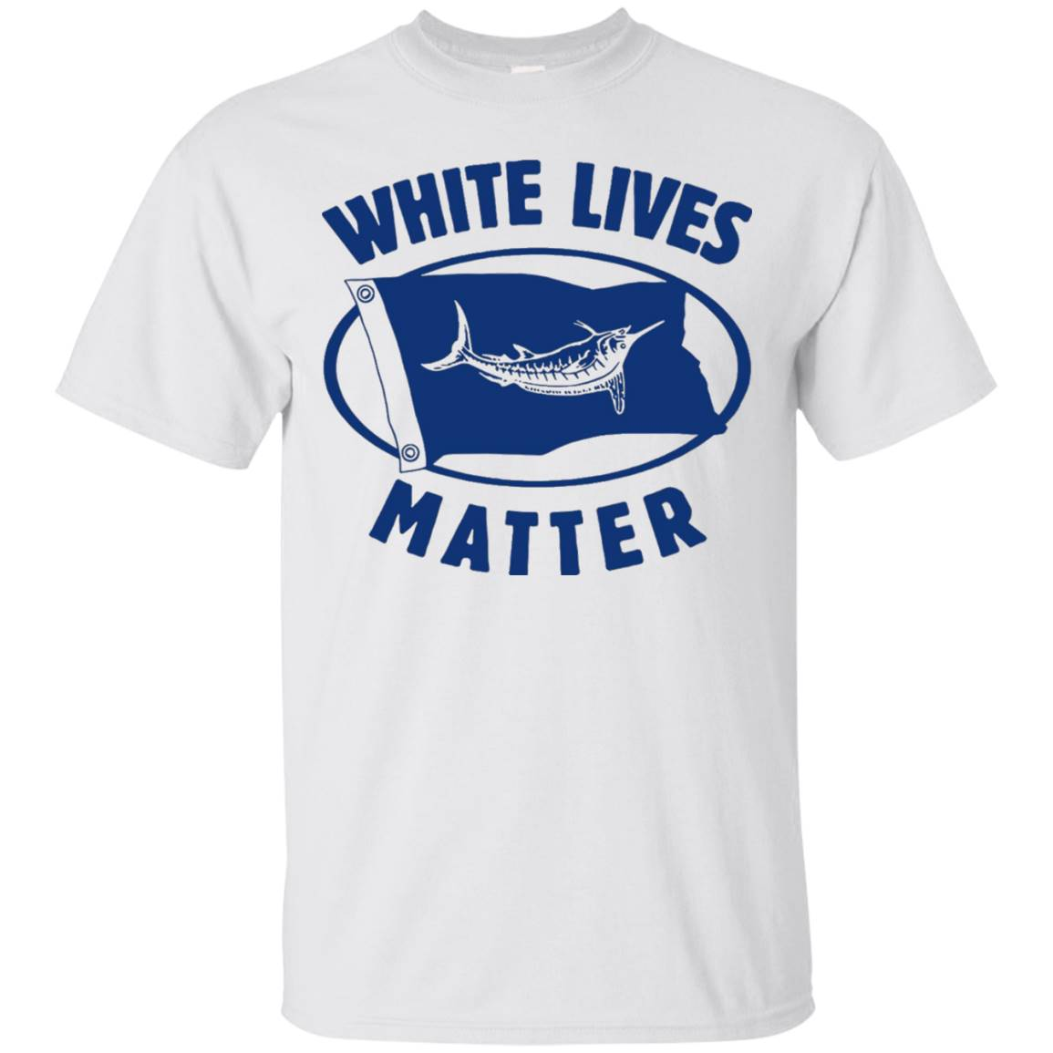 White Marlin lives matter shirt – White Gray colors – T-Shirt