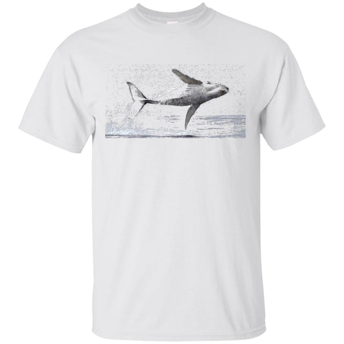Humpback Whale Tee Shirt Flying high colorful – T-Shirt