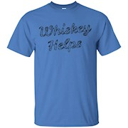 Whiskey Helps Funny Whiskey Alcohol Shirt The Gentle Sirs – T-Shirt