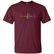 Love Heart Beat Gay Lesbian LGBT Pride T-Shirt