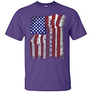 martin US flag rock guitar T-Shirt