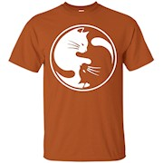Yin yang cat shirt – unisex shirt – T-Shirt