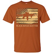 Black rifles matter American flag T-Shirt