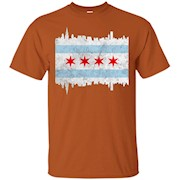 Chicago Illinois Flag T-shirt Vintage IL City Gift Shirt – T-Shirt