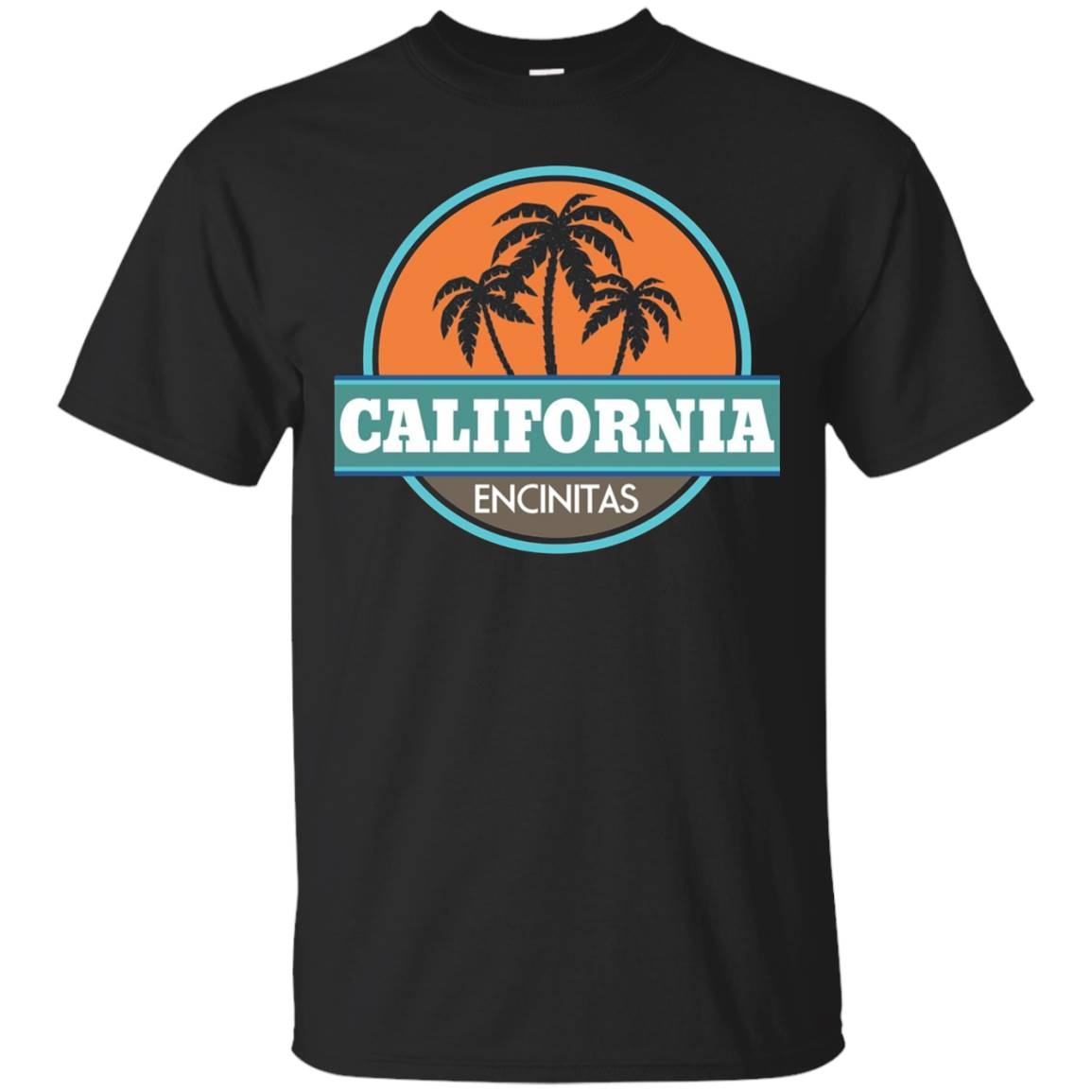 Encinitas California Vintage Sunset T-shirt Travel Gift – T-Shirt