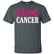 F CK Cancer T-Shirt Cancer Awareness Ribbon T-Shirt