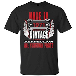 Made In 1971 Vintage 45th Birthday 45 Years Old Gift T-Shirt