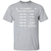 Man Hourly Rate T-Shirt Plumber Tee