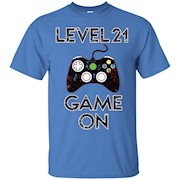Level 21 Game On Funny Video Games 21st Birthday Gift TShirt – T-Shirt