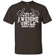This Is What An Awesome Uncle Looks Like T Shirt slogan funn – T-Shirt