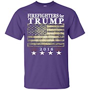 Firefighters Trump Shirt – Vintage style flag tee – T-Shirt