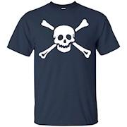 Jolly Roger Pirate Costume Shirt Skull Crossbones T-Shirt