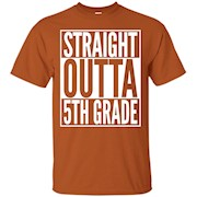 Straight Outta 5th Grade T-Shirt – Graduation Pride Tee