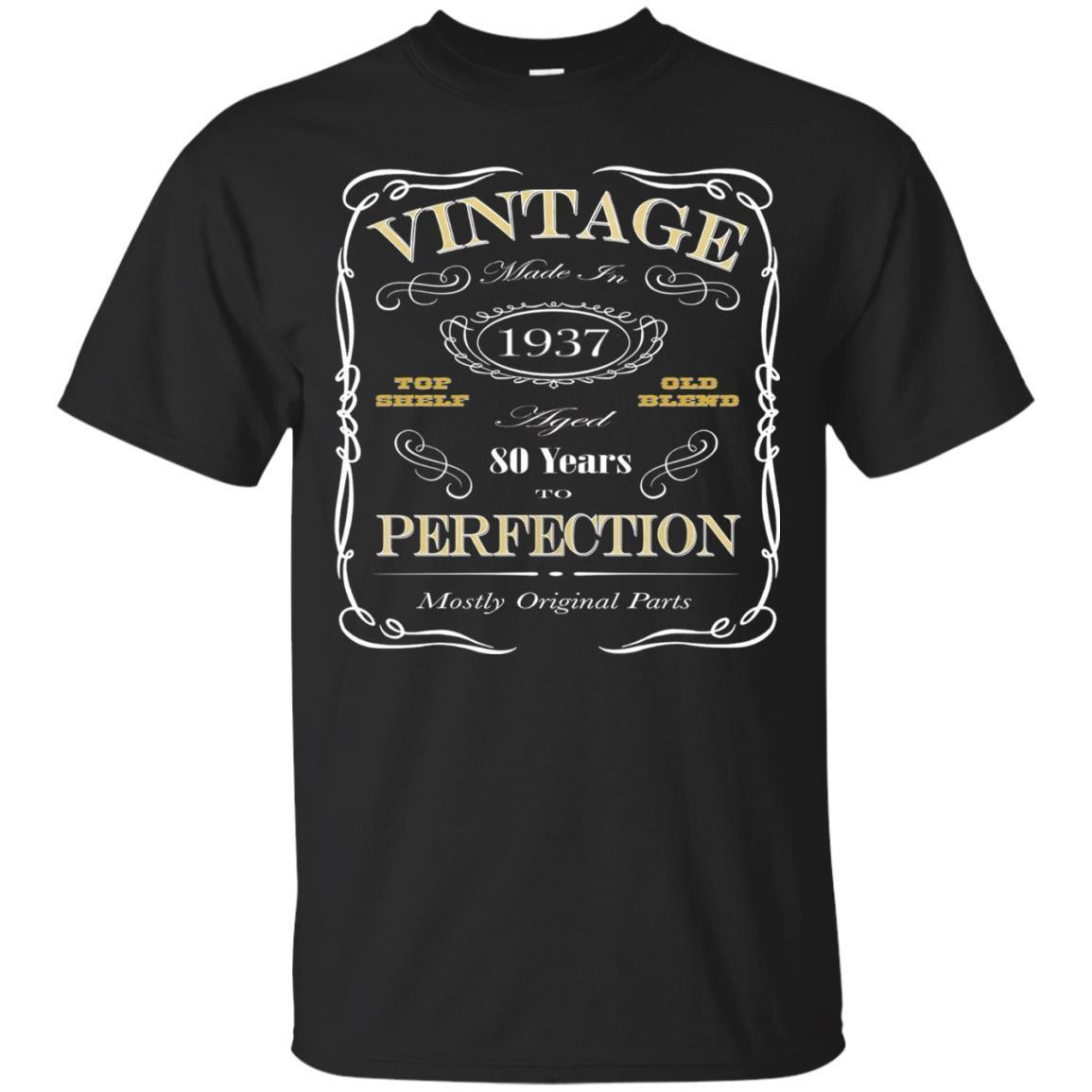 80th Birthday Gift T-Shirt – Born In 1937 – Vintage