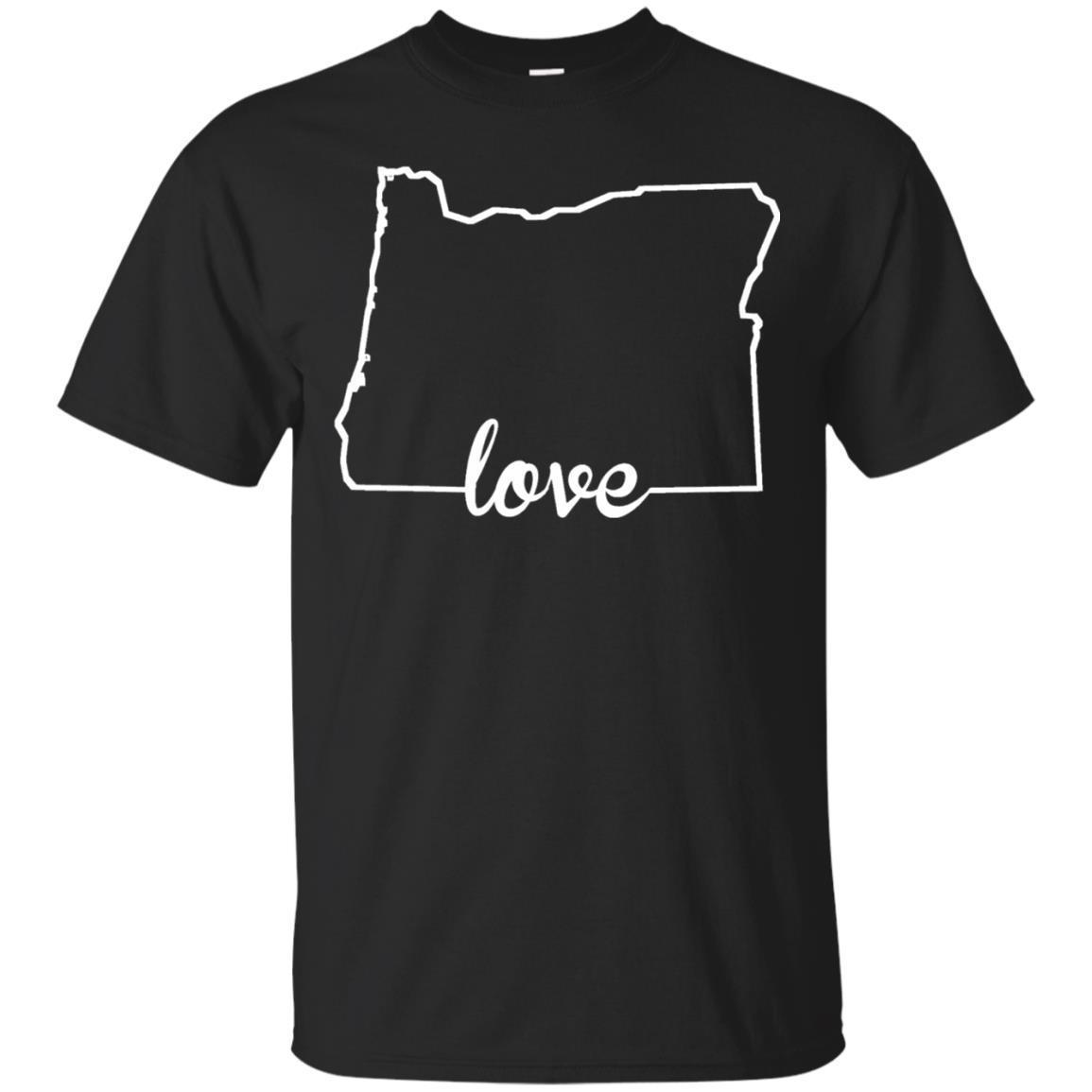 Oregon Love State Outline T-Shirt
