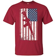 AR-15 Rifle American Flag T-Shirt Distressed Army Gun Tee
