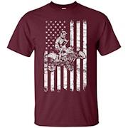 American Flag cool ATV Four Wheeler Quad Bike Shirt – T-Shirt