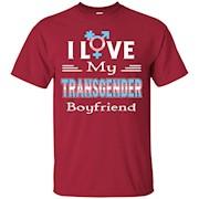 Cool I Love My Transgender Boyfriend LGBT Pride T-Shirt