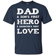 Cute Daddy Son Daughter Shirt New Dad Fathers Day Gift – T-Shirt