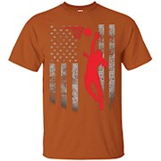 Female Basketball Player US Flag T-Shirt – Patriotic Design