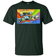 Greetings from Lake George NY Vintage Large Letter Postcard – T-Shirt