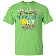 Distressed Softball Step Mom or Step Dad Tee Shirt – T-Shirt