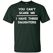 3 Daughters Shirt Funny Fathers Day Gift Dad Husband Grandpa – T-Shirt